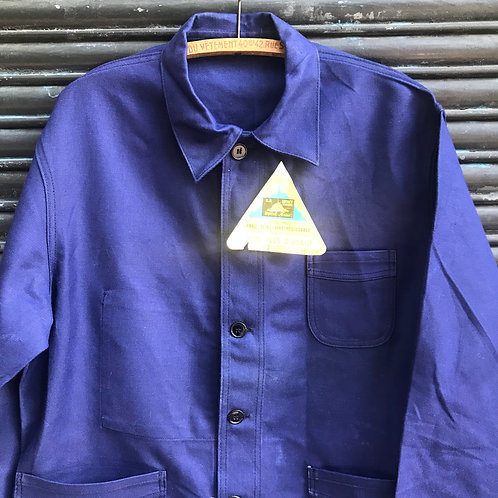 Dark Blue Le Mont St Michel Workwear Jacket - M/L