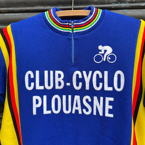 Club Cyclo Blue Cycling Jersey Top  Short Sleeves S/M