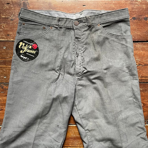 Le Laboureur Zelisport Grey Corduroy Trousers 34W / 31.5L