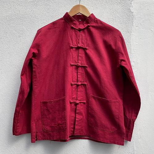 Red Mao Collar Jacket UK12