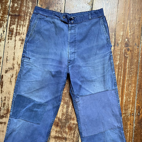 Patched Faded Moleskin Adolphe Lafont Trousers - 32W / 30L