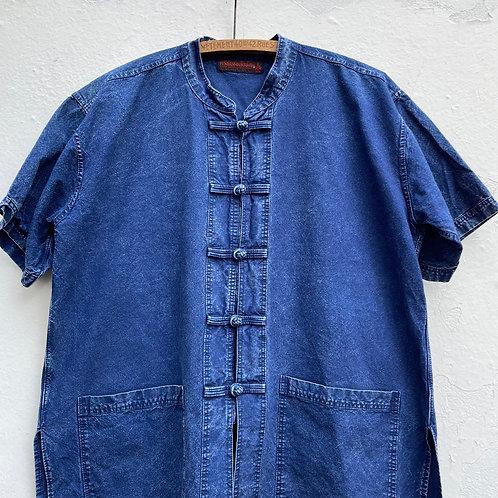 Short Sleeve Indigo Thai Jacket Medium