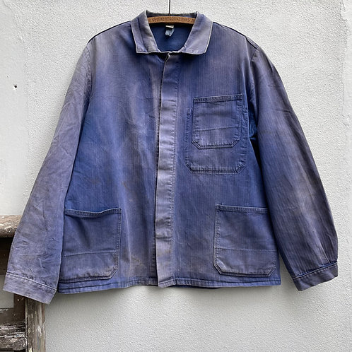 Faded Jacket Concealed Buttons Herringbone Twill M/L