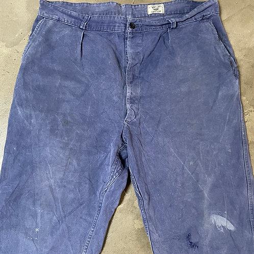 Faded Soft. Dark Blue Trousers 38W 28L