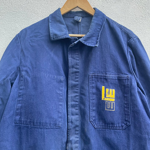 Yellow Logo Denim Style Jacket - Medium