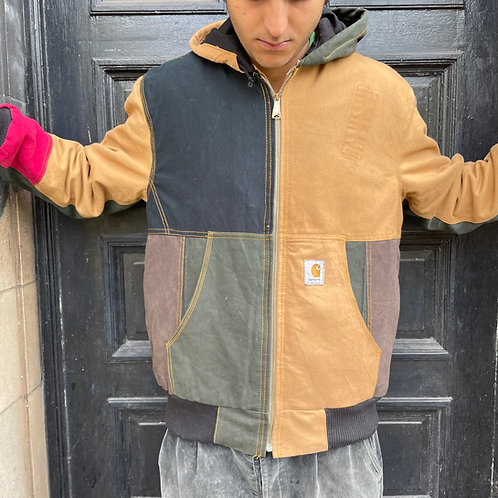 Carhartt Hooded Patched Style Jacket Medium