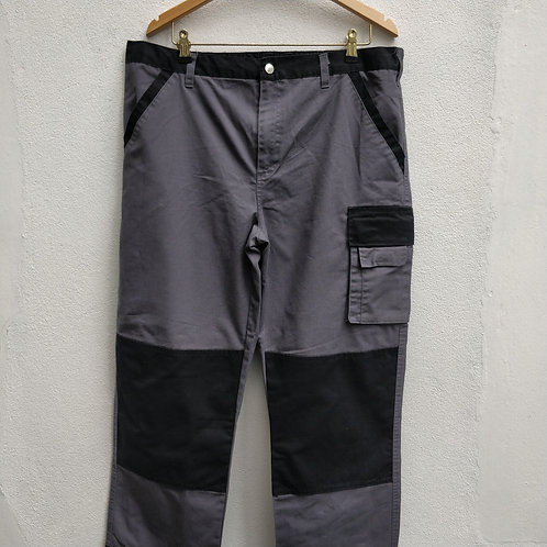 "Grey and Black Workwear Trousers. 38"" Waist 29"" L"