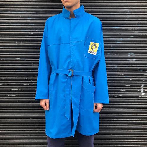 Long Blue Workwear Coat. XL Renault.