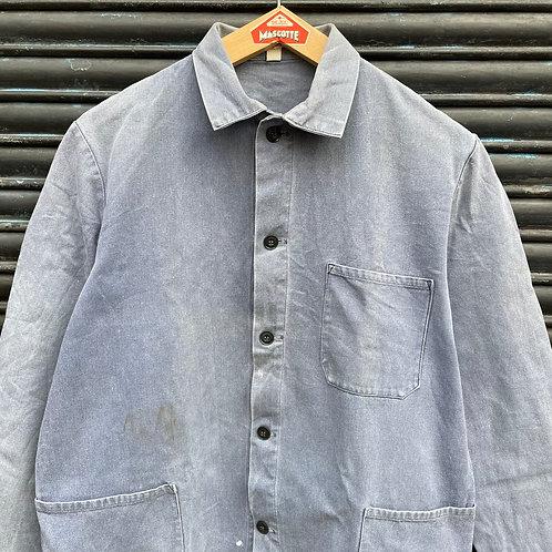 Grey Herringbone Twill Jacket - M
