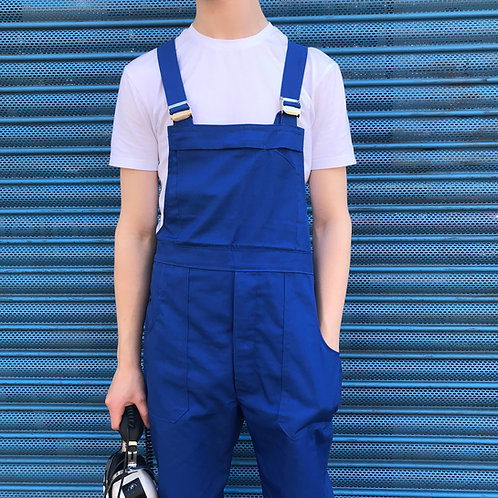 Blue Workwear Dungarees Medium