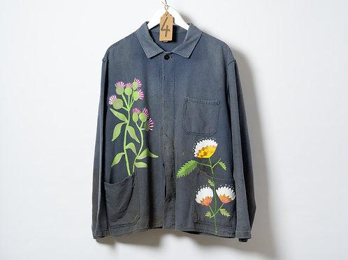 Jayde Perkin Grey East German Jacket Flowers Large