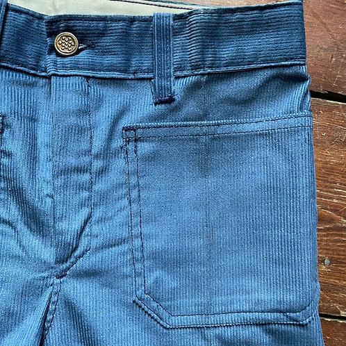 Le Laboureur Zelisport Blue Corduroy Trousers 27W / 35L