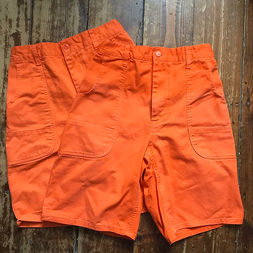 Orange Workwear Shorts - 30W & 31W