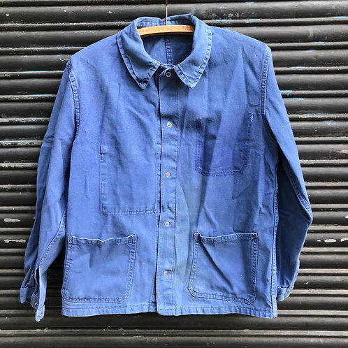 Faded Blue Stud Button Jacket - Small