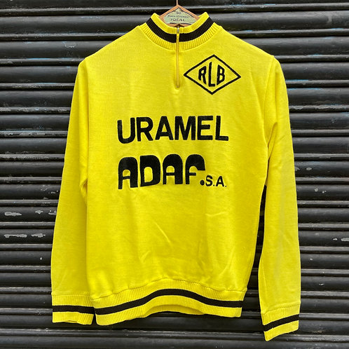 Yellow Cycling Jersey Top Long Sleeves Medium