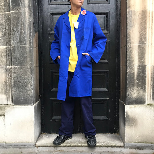 Long Blue Atelier Coat - XL