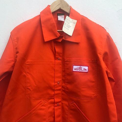 Orange Stud Button Jacket. M/L