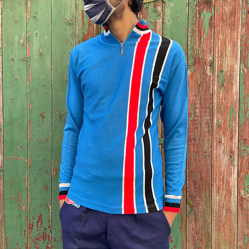 Blue Cycling Jersey Top S/M