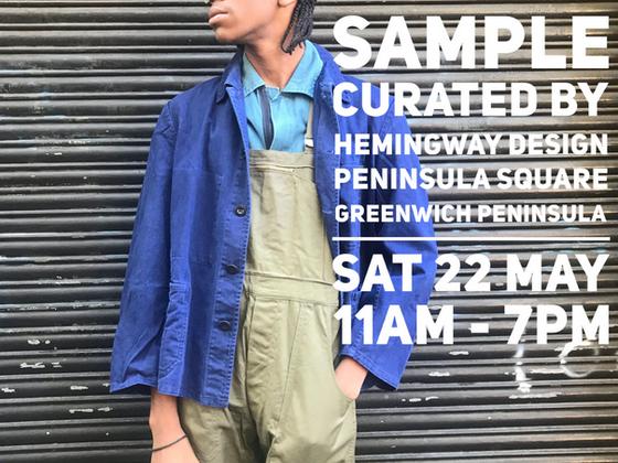 Sample, Greenwich Peninsula 22 May