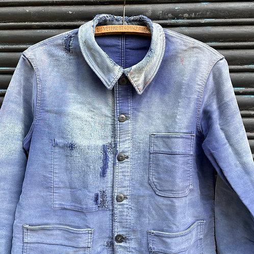 Le Mont St Michel Moleskine Jacket Faded & Mended - S/M