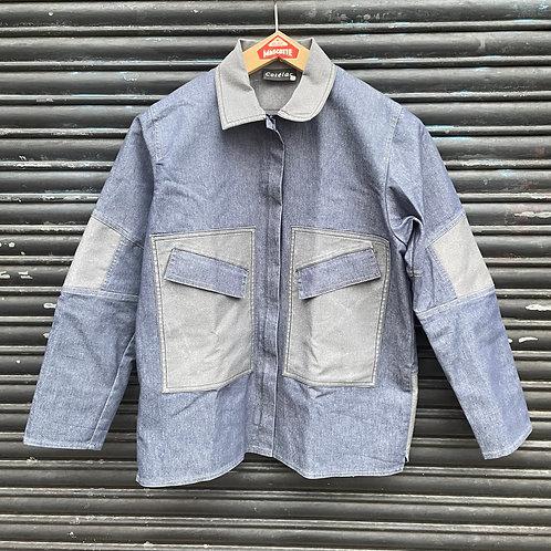 Denim Style Patch Pocket Jacket