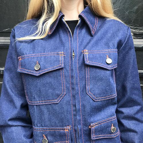 Le Laboureur Zélisport Waisted Jacket Orange stitching - XXS