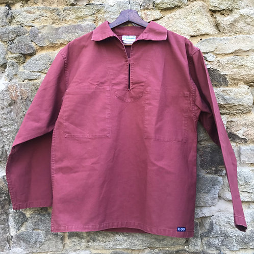 Burnt Red Fisherman's Smock - Small