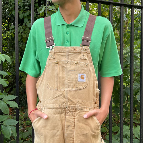 Carhartt Tan Dungarees Overalls 34W & 29W