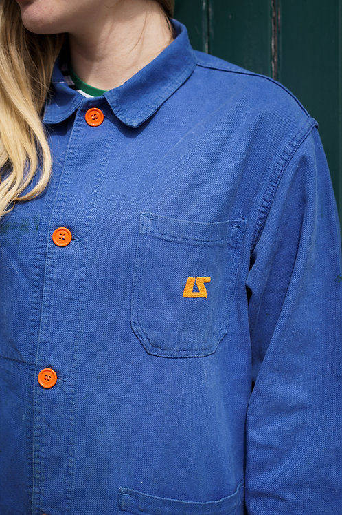 Orange buttons & embroidery Jacket - Medium
