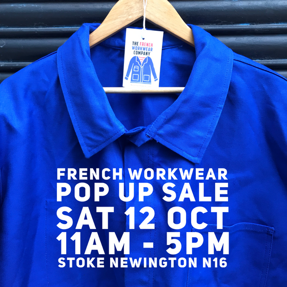 French Workwear Pop Up Sale 12 October