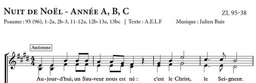 PSAUME 95 - Nuit de Noël - année A, B, C