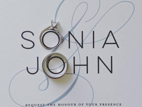 Congratulations Sonia & John!