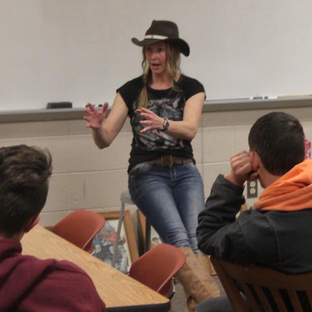 Speaking in a high school