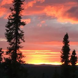 Backyard sunset, Alaska