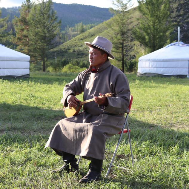 Mongolian throat singer