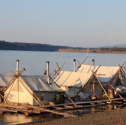 Our raft on Yukon River Run on Nat. Geo