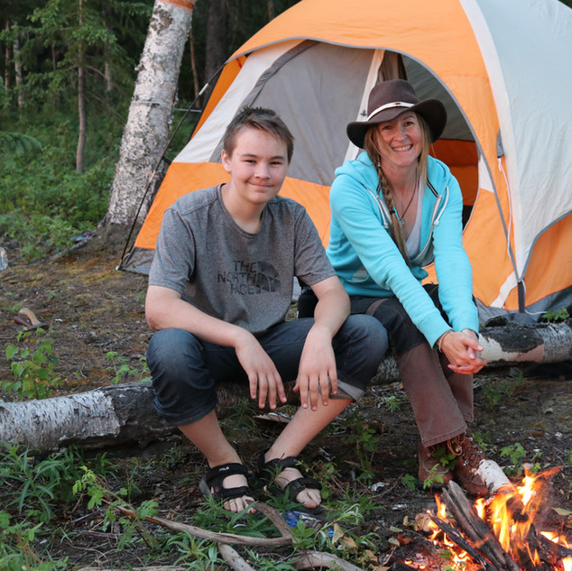 Camping with my son in Alaska
