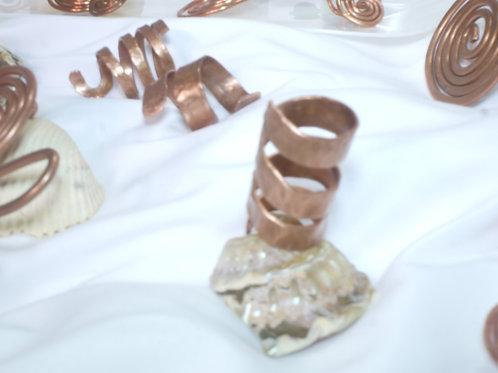 copper corkscrew ring