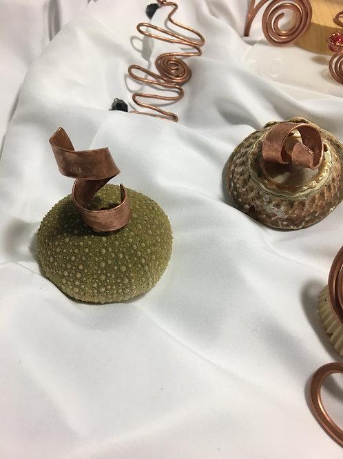 double corkscrew ring