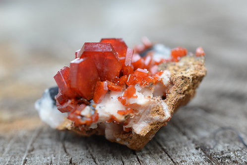 Stunning Vanadinite On Matrix