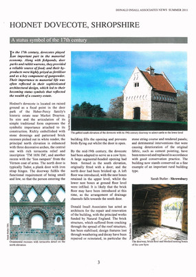 Click on the image to see a small article on a dovecote restored by I. J. Preece & Son Ltd.