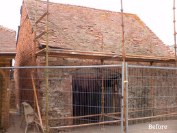 The building was to be converted into a garage/ workshop and was in need of new roof coverings.