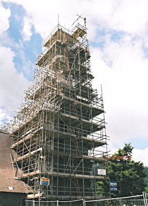 The church's original spire had collapsed some years ago and funds were raised to re-instate the stone spire.