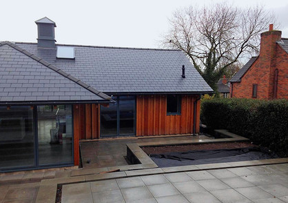 Perfectly angled walls and raised beds were created to compliment this new build.