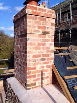 Traditional brickwork chimney