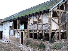 You can see that the timber structure needed major repair works to make the building safe.