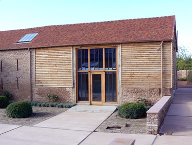 Our carpenters did an excellent job of neatly featherboarding the outside of this barn and fitting the bespoke windows.