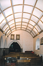 New timbers were formed to fit the space and plaster panels were added to create the stunning barrel-vault ceiling as we see it today.