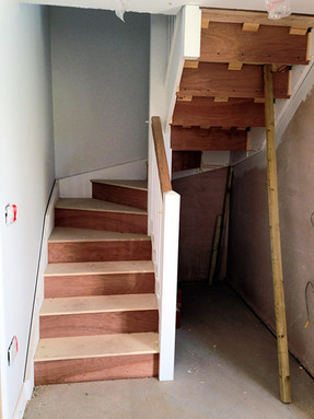 Here we have a staircase installation in progress.