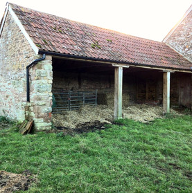 View of the single storey barn before work was started.